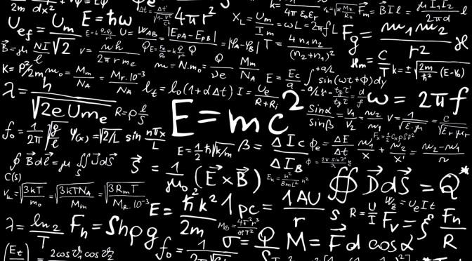 Blackboard with Math 2